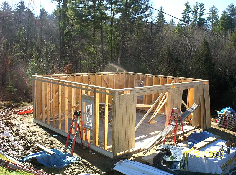 garage with storage trusses for added space upstairs built in thornton nh