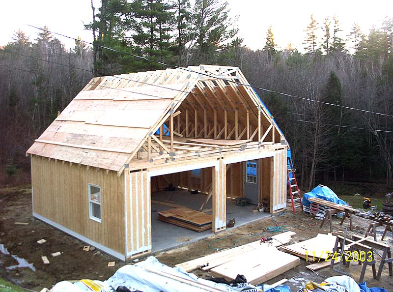 Garages and sheds jpn carpentry plymouth and squam nh for Garages with upstairs living space